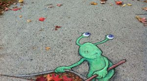 Pictures of Street Art Interactions with the Nature. Amazing! cute, not creepy like…