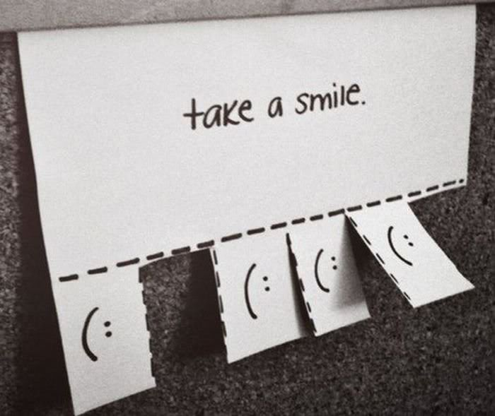Take a smile and pass it on