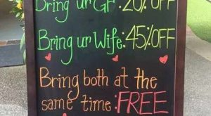Funny Valentine's Day Sign