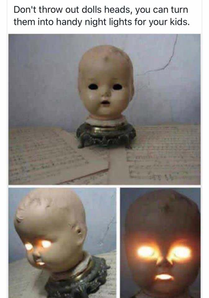 Doll's heads nightlights