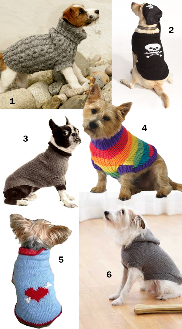 Free and Easy Knitting Patterns for Dog Sweaters