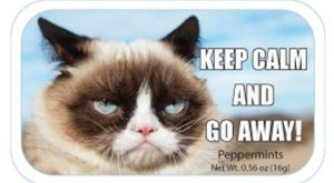 Grumpy Cat Keep Calm and Go Away Mints