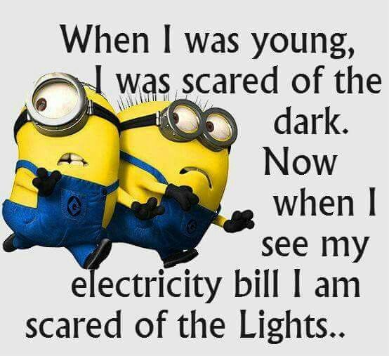 You don't have to be scared of the lights! Saving on your electricity bill…