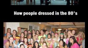 How People Dressed In The 's Vs. How College Girls Think People Dressed In…