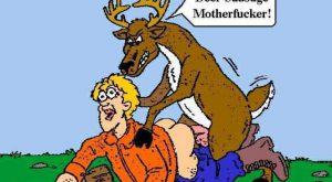 deer hunting cartoons humor | … Funny Picture, Have Fun Gallery :: Deer sausage – Picture …