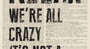 Relax – We're All Crazy, It's Not A Competition (dictionary background) Poster