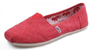 Toms Womens Bamboo pattern Shoes Red Is Full Of Fashionable Elements To Make People…