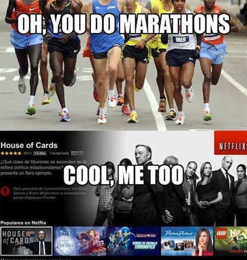 You run marathons?