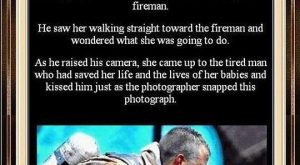 "The emotional ""Thank You"" from this rescued dog makes this fire fighters job so…"