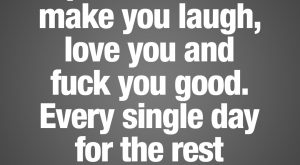 I promise I will make you laugh, love you and fuck you good. Every…