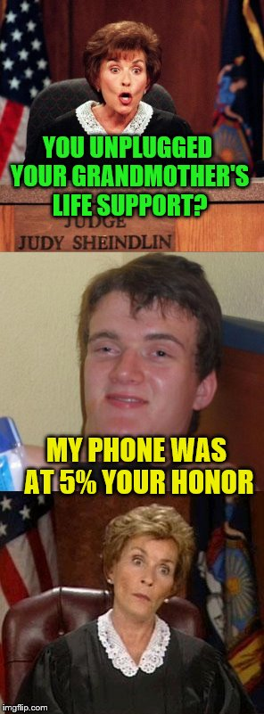 Hey, priorities   YOU UNPLUGGED YOUR GRANDMOTHER'S LIFE SUPPORT? MY PHONE WAS AT %…