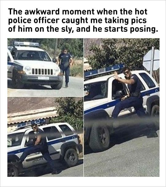 hot police officer funny pic