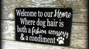 Funny Dog Sign, Pet Lover Gift, Welcome Sign, Custom Wooden Wall Decor #funnydogpictures explore…