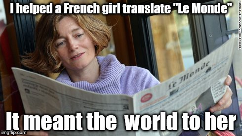 Funny French Girl