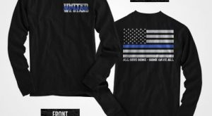 United we stand thin blue line long sleeve shirt by ThinBlueLineNY