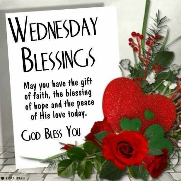 Wednesday Blessings!