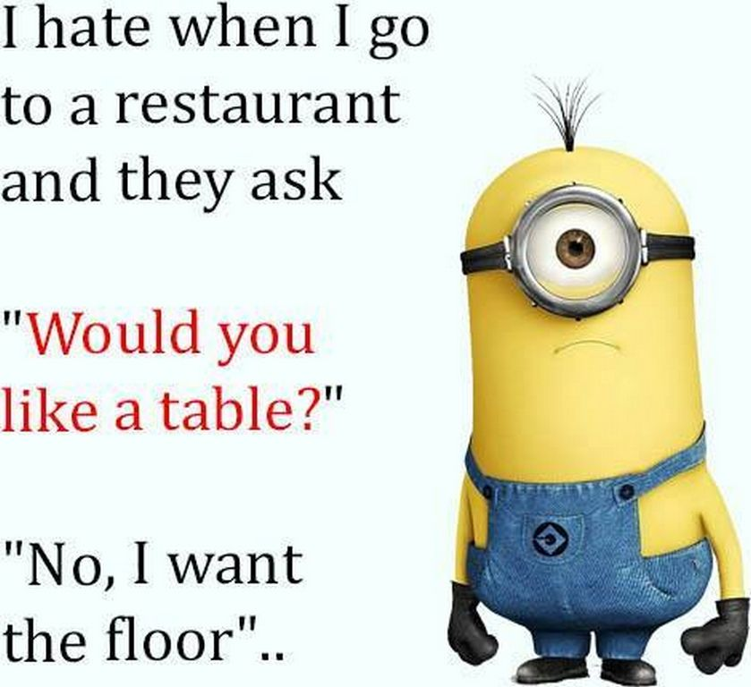 Today Minions funny says (:: PM, Wednesday , March  ) –  pics