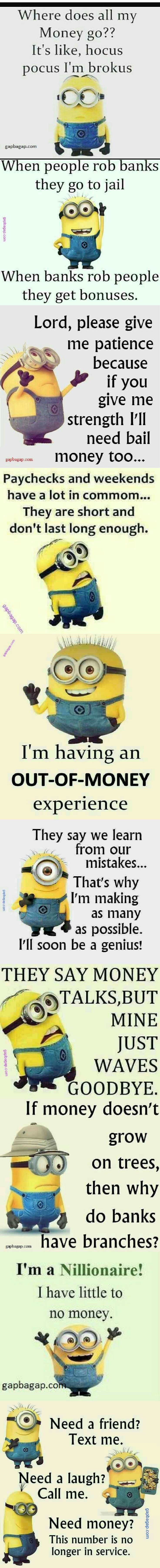 Top  Funny Memes About Money By The Minions