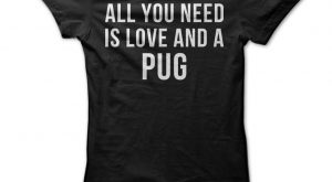 "All You Need Is Love And A Pug #funnydogmeme ""> #funnydogmeme"
