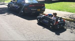 My daughter successfully pulled over a cop