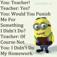 "#Funny ""> #Funny #Minion ""> #Minion vs/ Teacher #Quotes ""> #Quotes…"