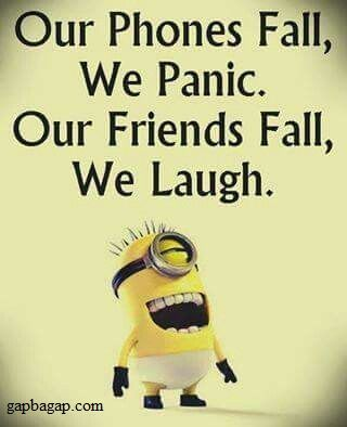 Funny Minion Joke Phones Vs Friends Page 538 Fit For Fun