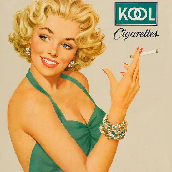 Detail Of Kool Blonde Girl Cigarettes Mild Menthol – The detail views category features…