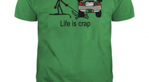 "Life Is Crap Dog Funny T-Shirt #gift ""> #gift #ideas ""> #ideas…"