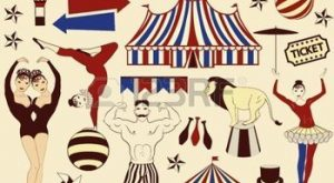 Circus Starr immer geduscht, Vintage Poster