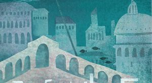 """Travel Poster """"VENICE"""" on Behance by Belle Lee"""
