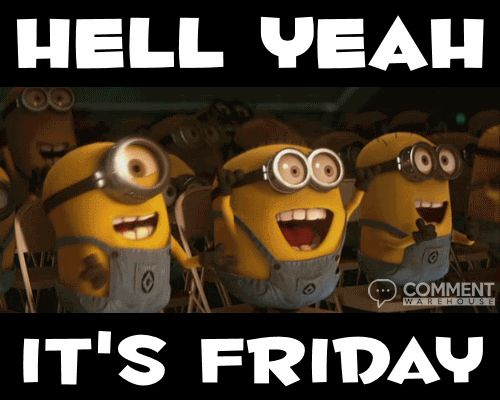 animated minions hell yeah its friday