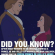 Children, Fresh, and Memes: DID YOU KNOW?  AFTER BEAST REVERTS TO HIS ORIGINAL FORM AS A  PRINCE, HE AND BELLE GET MARRIED AND HAVE CHILDREN,  MAKING HIM THE FRESH PRINCE OF BELLE'S HEIRS