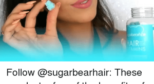 Fall, Memes, and Hair: Follow @sugarbearhair: These are Just a few of the benefits of these delicious gummy vitamins! They can help: – Improve hair health – reduce hair Fall – support nail health Check them out @sugarbearhair
