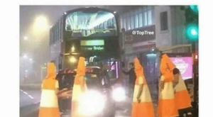 "Memes, Police, and Traffic: ""I'll smoke a bowl but let's not get  too high tonight""   hours later:  @TopTree  ITV REPORT   November  at tam  Police called after men dressed as  traffic cones block road"