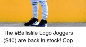 Memes, Joggers, and Back: The #Ballislife Logo Joggers ($) are back in stock!  Cop yours now: https://t.co/uGgesSLKZ https://t.co/ARkpzZSLZ