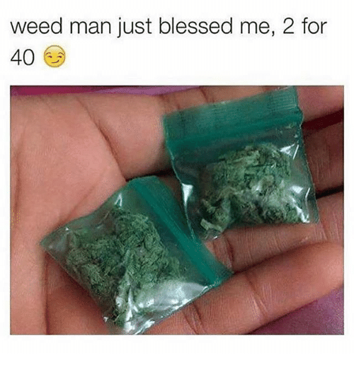 Blessed, Memes, and Weed: weed man just blessed me,  for