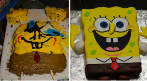 Spongebob cake cooking FAIL