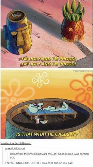 SpongeBob coming out of the closet XD