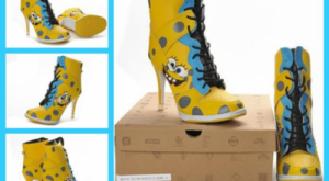 Spongebob Heelpants. HAHAHAHAHA! to go with the gangster spongebob outfit, you know, to ma...