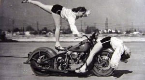 Amazing Vintage Photos of Early Women Motorcycle Stunters