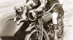 women and motorcycles photos | Women Drive a Motorcycle with a Sidecar,  Photographic…