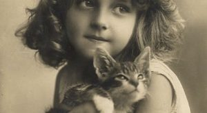 Well, yeah //  Vintage Photographs That Prove Cats Are A Girl's Best Friend
