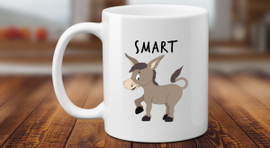 Smart Ass Funny Donkey Coffee Mug