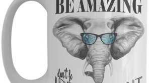 Be Amazing Don't Be Irrelephant Coffee Mug – Funny Elephant Mug