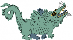 in my one original universe dragons are just shitty possums that don't really do…