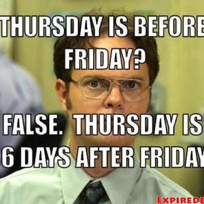 Thursday is before friday quotes memes quote days of the week good morning thursday…