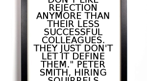 """Great salespeople don't like rejection anymore than their less successful colleagues. They just don't…"