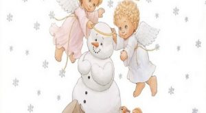Baby angels Christmas snowman snow flake squirrel quote pillow cushion Cover ""