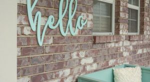 cool We love this hello welcome sign to add a pop of colour on…