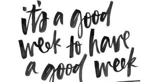 It's a good week to have a good week. Repined by Spine & Rehab…